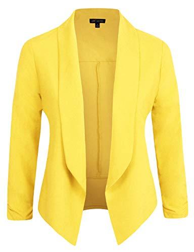 Michel Womens Blazer Work Office Lightweight Stretchy Open Front Lapel Jacket