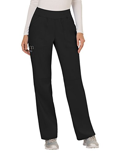 Cherokee Women's Mid Rise Straight Leg Pull-on Pant, Medium Petite