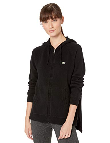 Lacoste Womens Sport Cashmere Full Zip Hoodie Sweater Sweater