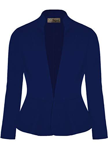 Hybrid & Company Women Super Comfy Ponte Office Blazer
