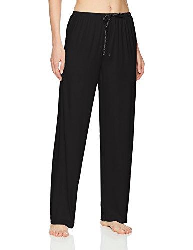 HUE Women's SleepWell with TempTech Pajama Sleep Pant, Black, Large