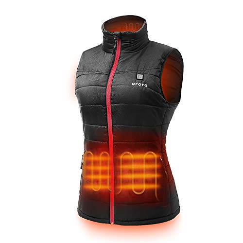 ORORO Women's Lightweight Heated Vest with Battery Pack