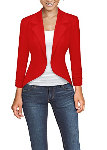 Womens Casual Work High Low Blazer Jacket