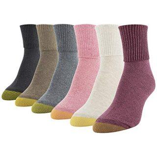 Gold Toe Women's Crew Socks, Pink, Oatmeal, Grey Mist, Café