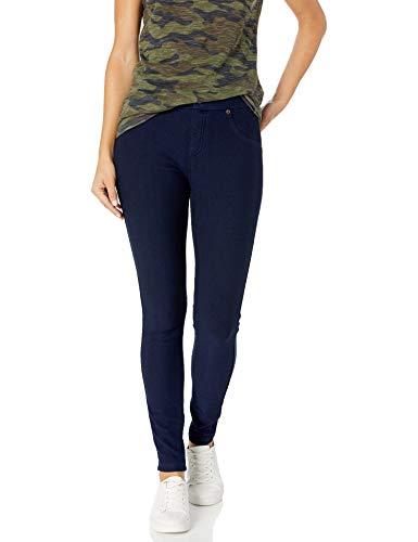 HUE Women's Ultra Soft Fleece Lined Denim Leggings, Ink Wash
