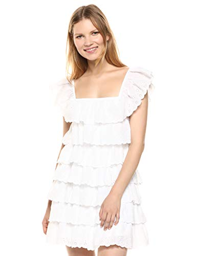 Show Me Your Mumu Women's Lucy Mini Dress, White Eyelet
