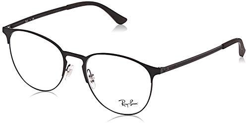 Ray-Ban Round Metal Eyeglass Frames, Black On Matte Black/Demo Lens