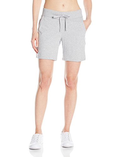 Hanes Women's Jersey Short, Light Steel, X-Large