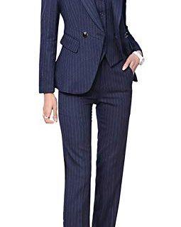 Women's Three Pieces Office Lady Blazer Business Suit Set Women Suits