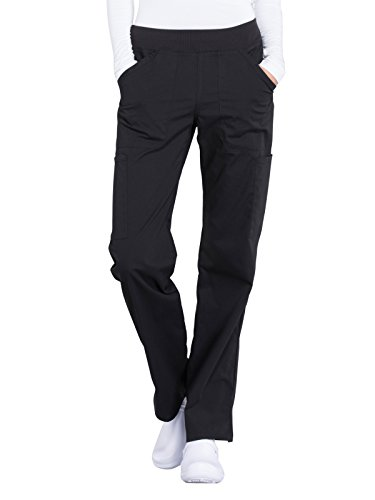 CHEROKEE Workwear Professionals Women's Mid Rise, Straight Leg Pull-On Pant