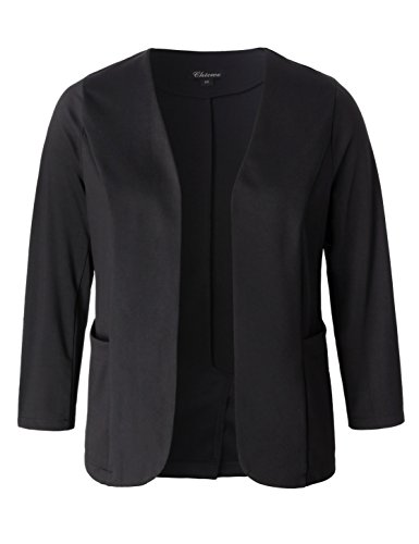 Chicwe Women's Stretch Work Chic Outfit Blazer Plus Size Jacket