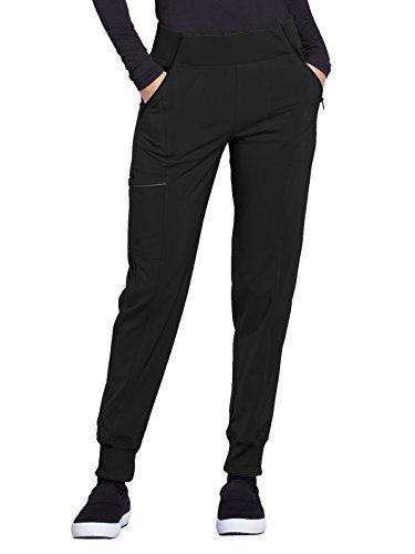 CHEROKEE Infinity Women's Mid Rise Tapered Leg Jogger Pant Black M Tall