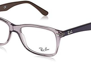Ray-Ban Square Eyeglass Frames, Grey/Demo Lens