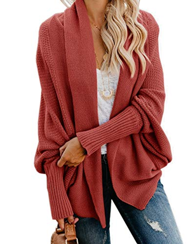 Imily Bela Womens Kimono Batwing Cable Knitted Slouchy Oversized