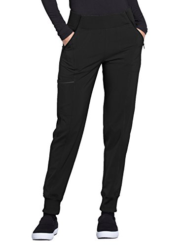 CHEROKEE Infinity CK110A Women's Mid Rise Tapered Leg Jogger Pant Black S