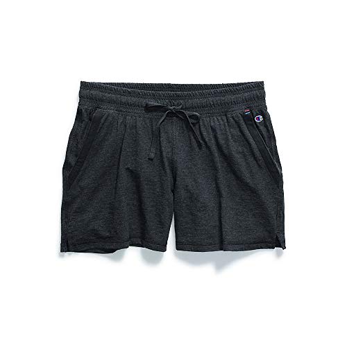 Champion Women's Jersey Short, Black Heather