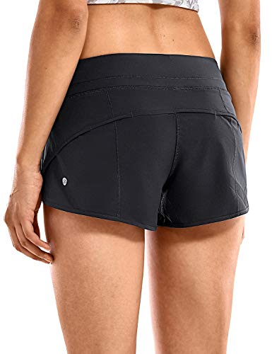 CRZ YOGA Women's Quick-Dry Workout Sports Active Running Shorts