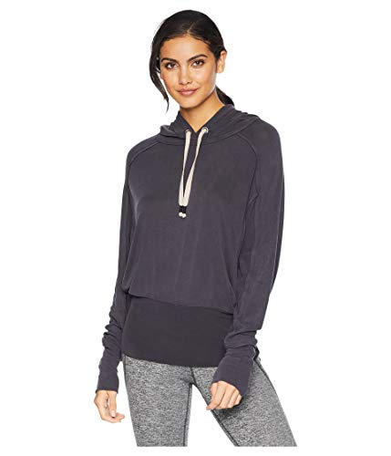 Free People FP Movement Ready Go Hoodie Black LG