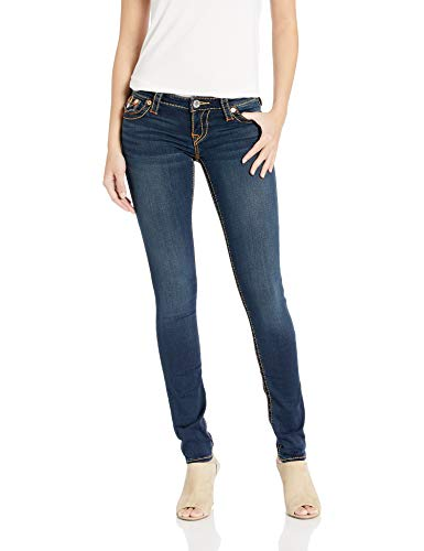 True Religion Women's Stella Low Rise Skinny Fit Jean, Indigo Upgrade