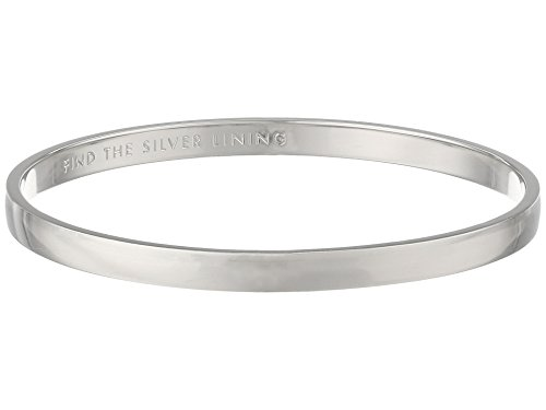 """kate spade new york """"Idiom Bangles"""" Find The Silver Lining Solid Bangle Bracelet"""