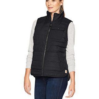 Carhartt Women's Amoret Sherpa Lined Vest, Black, Large