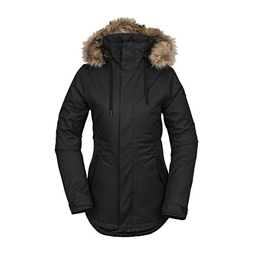 Volcom Women's Fawn Insulated Snow Jacket, Black
