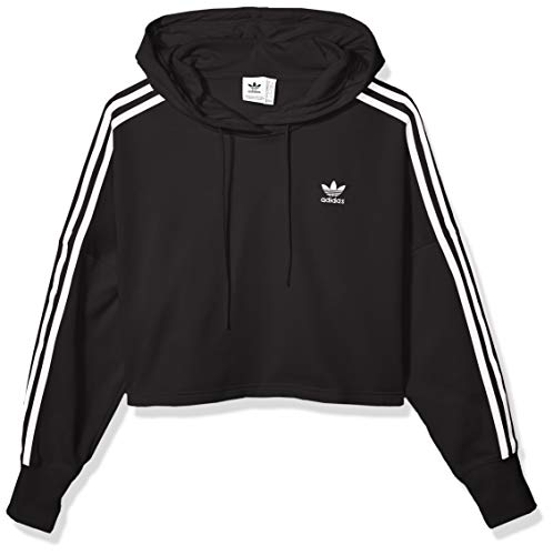 adidas Originals Women's Cropped Hooded Sweatshirt, black
