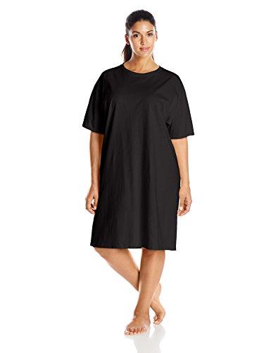 Hanes Women's Wear Around Nightshirt, Black, One Size
