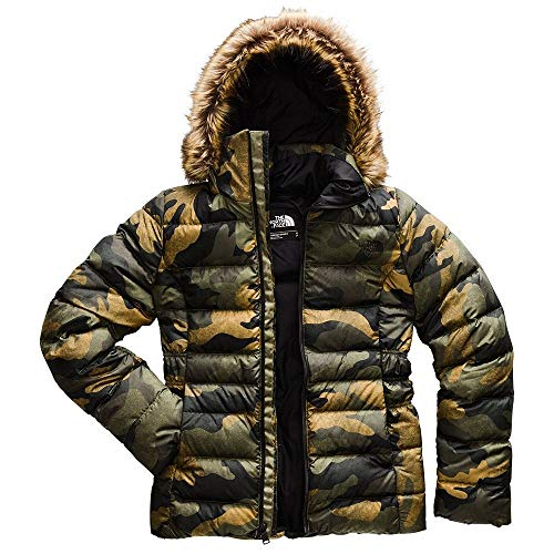 The North Face Women's Gotham Jacket II, Burnt Olive Green Waxed Camo Print