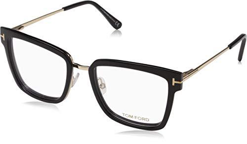 Tom Ford Geomteric Metal Eyeglasses Frame Shiny Black