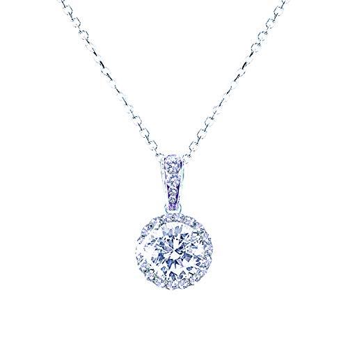 landau Jewelry Women's Necklace - Deluxe Pave Stud - Premium Quality Finish