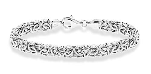 Miabella 925 Sterling Silver Italian Byzantine Bracelet for Women