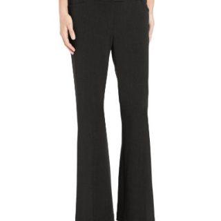 Rafaella Women's Petite Curvy Fit Gabardine Trouser, Black