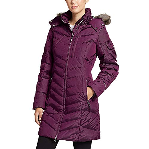 Eddie Bauer Women's Sun Valley Down Parka, Dk Plum Regular L Regular