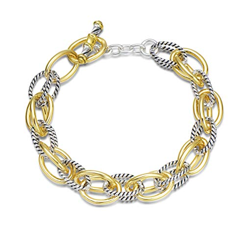 UNY Bracelet Designer Brand Inspired Antique Women Jewelry Double Cable Link