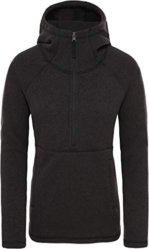 The North Face Women's Crescent Hooded Pullover, TNF Black Heather