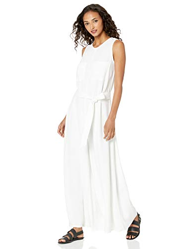 Rachel Pally Women's Linen Cortez Jumpsuit, Chalk, M