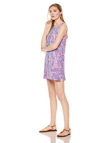 Lilly Pulitzer Women's Donna, Coastal Blue Maybe Gator Engineered Romper