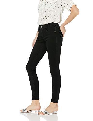 True Religion Women's Jennie Curvy Mid Rise Skinny Jean, 2sb Body Rinse Black