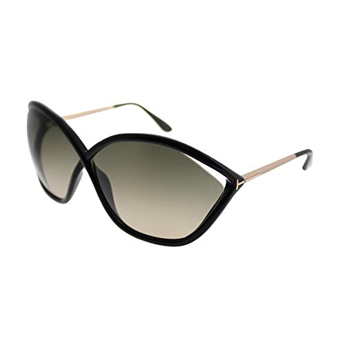 Tom Ford 01B Black Round Sunglasses Lens Category 2 Size 71mm