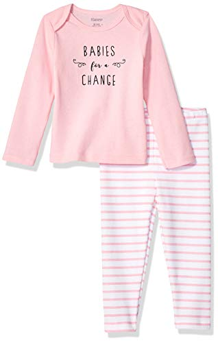 Hanes Ultimate Baby Flexy 2 Piece Set (Pant with Long Sleeve Crew Tee)