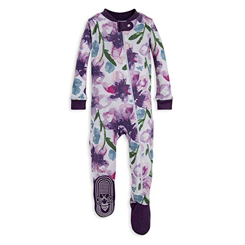 Burt's Bees Baby Baby Girls Pajamas, Zip Front Non-Slip Footed Sleeper PJs