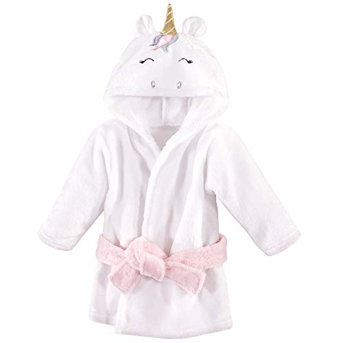 Hudson Baby Plush Animal Bathrobe, Multicolor Unicorn