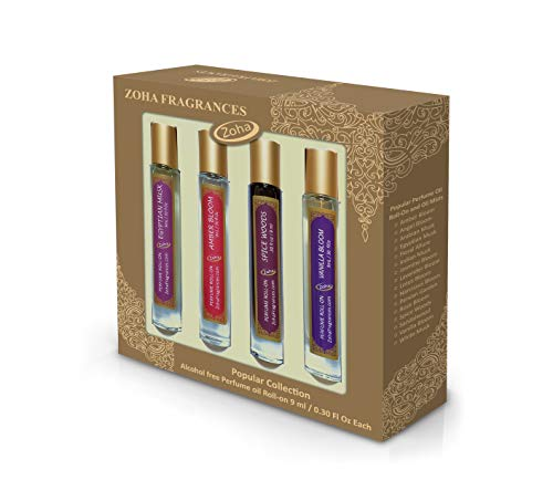 Perfume Gift Set - Collection of four Popular Perfume Oils in 9ml Roll-On bottles