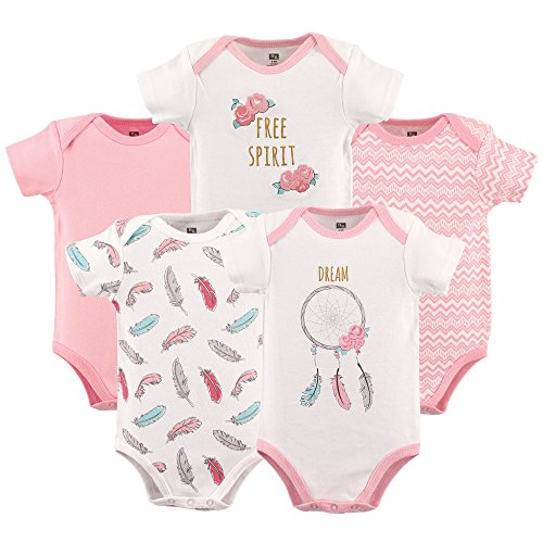 Hudson Baby Unisex Baby Cotton Bodysuits, Dream Catcher
