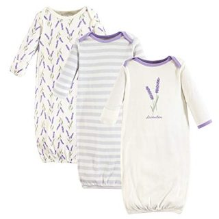 Touched by Nature Unisex Baby Organic Cotton Gowns, Lavender