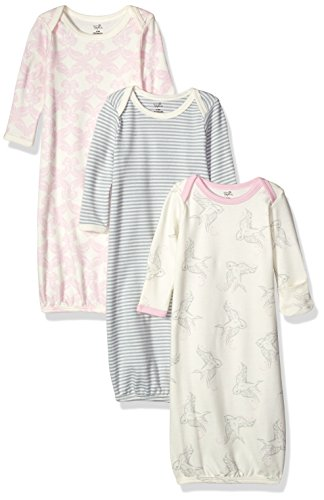 Touched by Nature Unisex Baby Organic Cotton Gowns, Bird