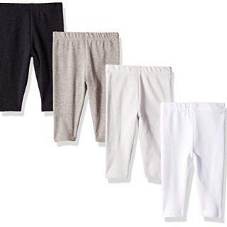 Hanes Ultimate Baby Flexy 4 Pack Knit Pants, Greys/Black