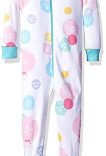 The Children's Place Baby Girls Long Sleeve One-Piece Pajamas, Family Dots