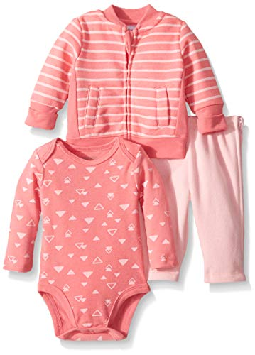 Hanes Ultimate Baby Zippin Zip Pant with Bodysuit and Fleece Jacket
